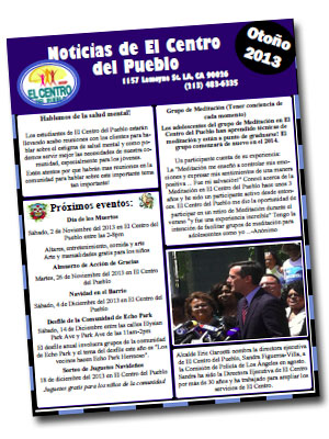 Newsletter_Fall2013_Spanish